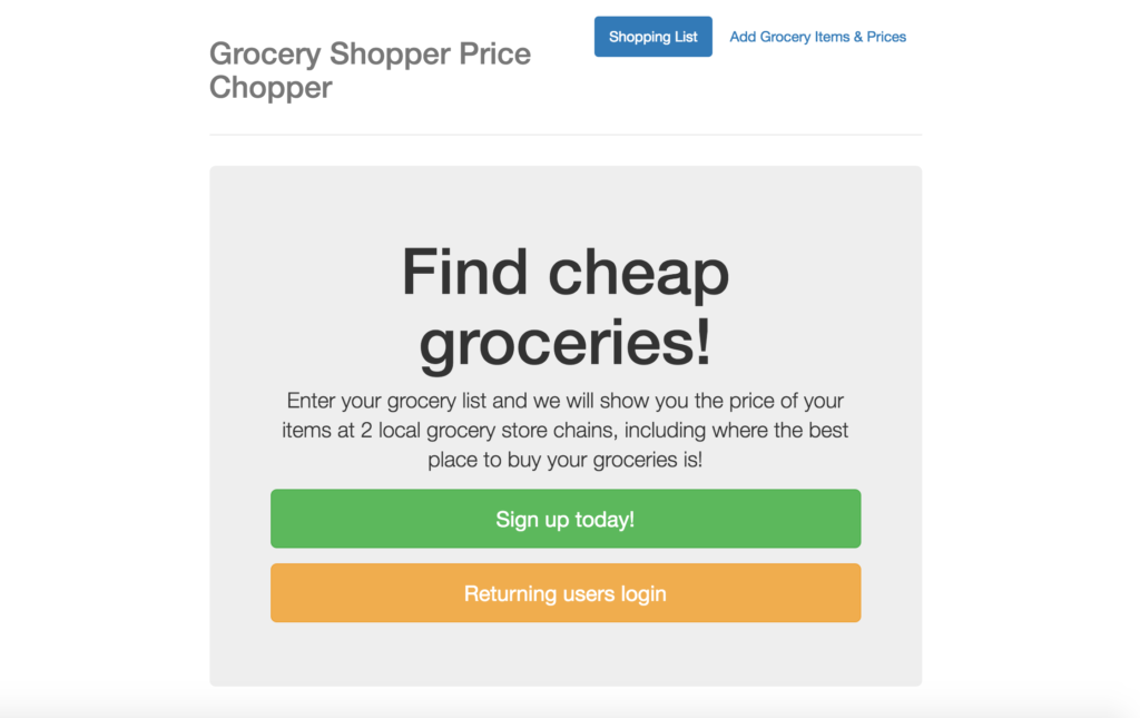 Grocery Shopper Price Chopper